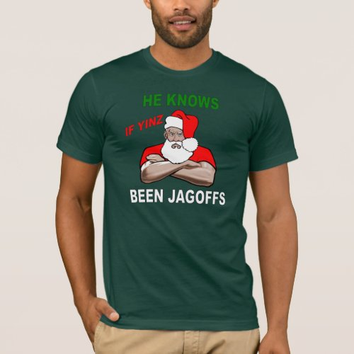 PITTSBURGH SANTA SHIRT DARK