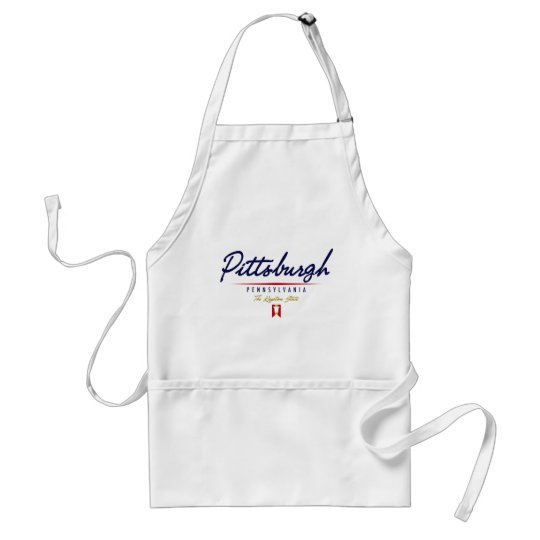 Pittsburgh Script Adult Apron