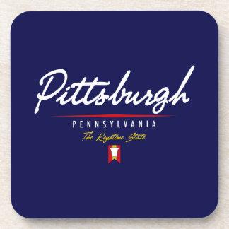Pittsburgh Script Beverage Coaster