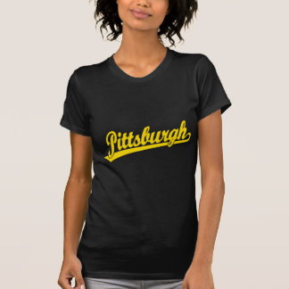 Pittsburgh script logo in gold T-Shirt