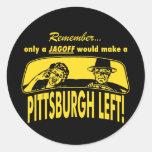 Pittsburgh se fue etiquetas redondas