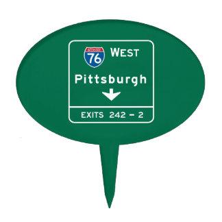 Pittsburgh, señal de tráfico del PA Figura Para Tarta