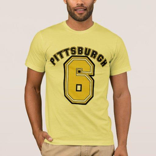 Pittsburgh six t shirt zazzle for Pittsburgh t shirt printing