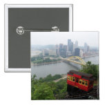 Pittsburgh Skyline 2 Inch Square Button
