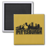 Pittsburgh Skyline 2 Inch Square Magnet