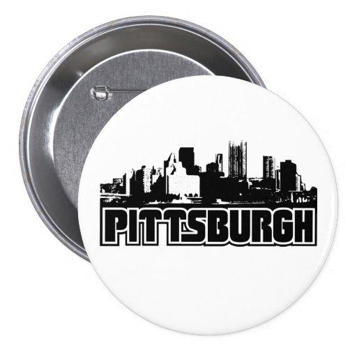 Pittsburgh Skyline 3 Inch Round Button