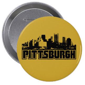 Pittsburgh Skyline 4 Inch Round Button