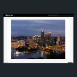 "Pittsburgh Skyline at Dusk 17&quot; Laptop Decal<br><div class=""desc"">This picture was taken at the top of Mount Washington,  above the downtown Pittsburgh Skyline,  at dusk.</div>"