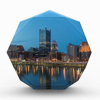 Pittsburgh Skyline at Dusk Acrylic Award