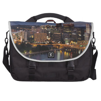 Pittsburgh Skyline at Dusk Bags For Laptop