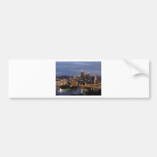 Pittsburgh Skyline at Dusk Bumper Sticker