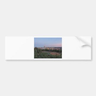 Pittsburgh Skyline at Dusk Bumper Sticker