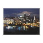 Pittsburgh Skyline at Dusk Canvas
