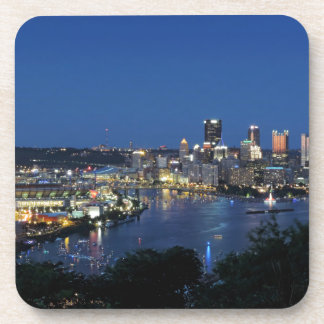 Pittsburgh Skyline at Dusk Coaster