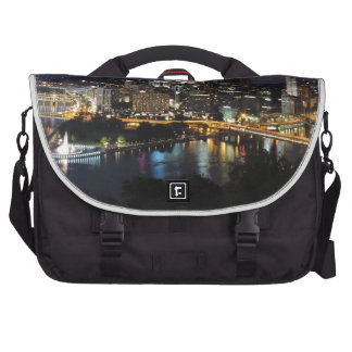 Pittsburgh Skyline at Dusk Commuter Bags