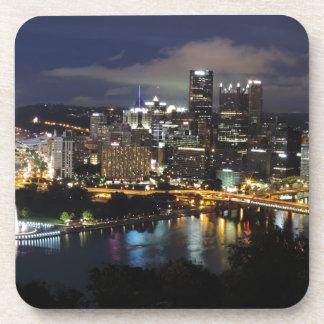 Pittsburgh Skyline at Dusk Drink Coasters