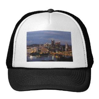 Pittsburgh Skyline at Dusk Trucker Hat
