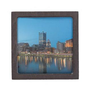 Pittsburgh Skyline at Dusk Jewelry Box