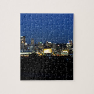 Pittsburgh Skyline at Dusk Jigsaw Puzzle