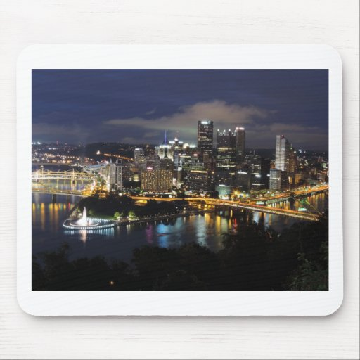 Pittsburgh Skyline at Dusk Mouse Pads