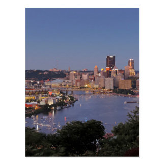 Pittsburgh Skyline at Dusk Post Cards