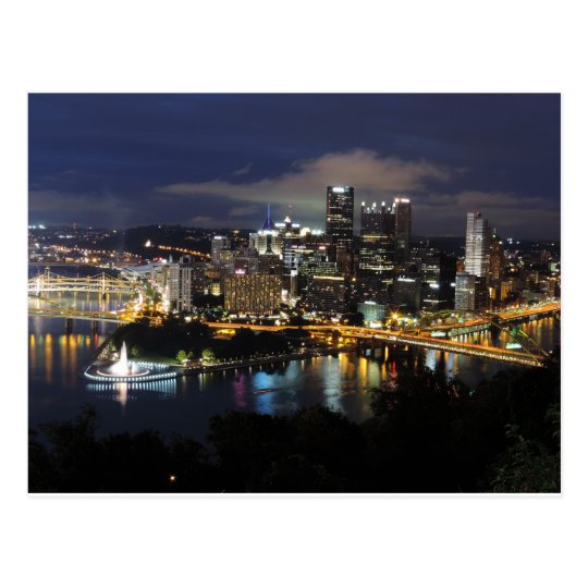 Pittsburgh Skyline: The Pittsburgh Point 1931 Postcard