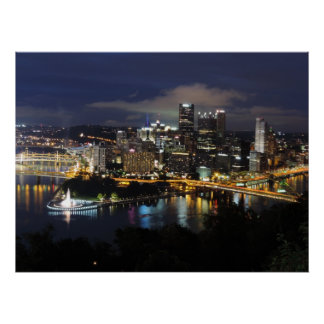 Pittsburgh Skyline at Dusk Poster