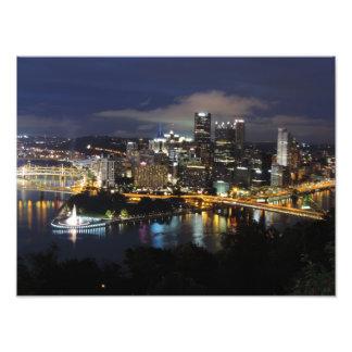 Pittsburgh Skyline at Dusk Print