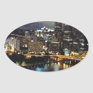 Pittsburgh Skyline at Dusk Stickers