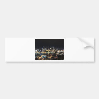 Pittsburgh Skyline at Night Bumper Sticker
