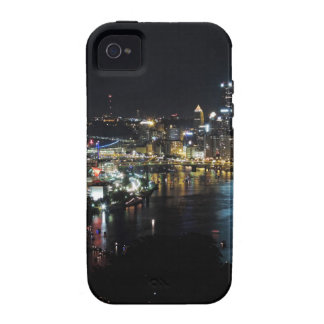 Pittsburgh Skyline at Night Case-Mate iPhone 4 Covers