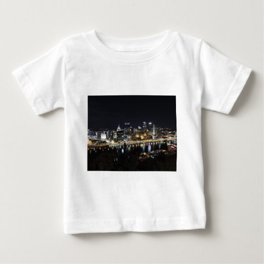 Pittsburgh skyline at night from Mount Washington Baby T-Shirt