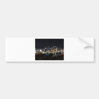 Pittsburgh skyline at night from Mount Washington Bumper Sticker