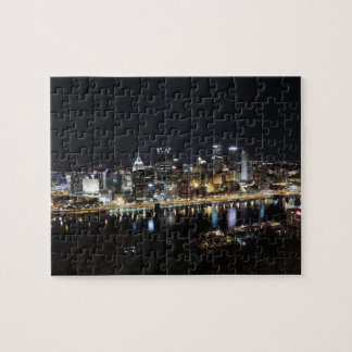 Pittsburgh skyline at night from Mount Washington Jigsaw Puzzle