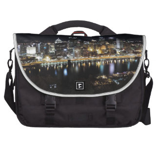 Pittsburgh skyline at night from Mount Washington Bag For Laptop