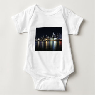 Pittsburgh Skyline at night from PNC Park Baby Bodysuit