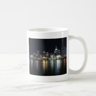 Pittsburgh Skyline at night from PNC Park Coffee Mug