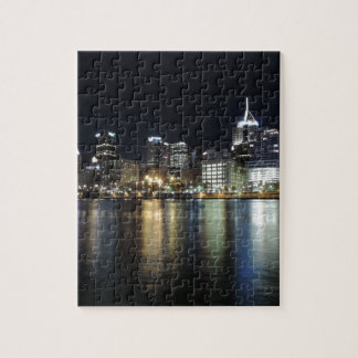 Pittsburgh Skyline at night from PNC Park Jigsaw Puzzle