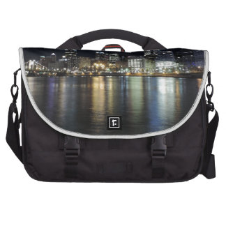 Pittsburgh Skyline at night from PNC Park Bag For Laptop
