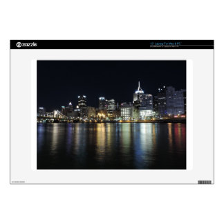 Pittsburgh Skyline at night from PNC Park Laptop Skins