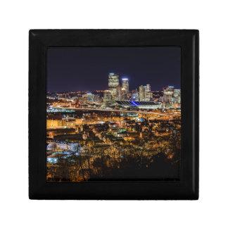 Pittsburgh Skyline at Night Jewelry Box