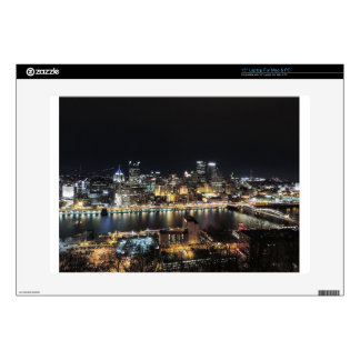 Pittsburgh Skyline at Night Laptop Decal