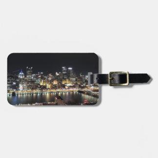 Pittsburgh Skyline at Night Luggage Tag