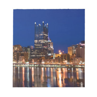 Pittsburgh Skyline at Night Notepad