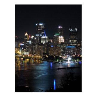 Pittsburgh Skyline at Night Postcard