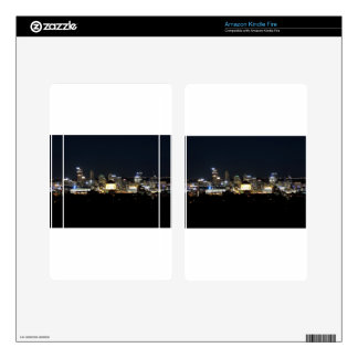 Pittsburgh Skyline at Night Decals For Kindle Fire