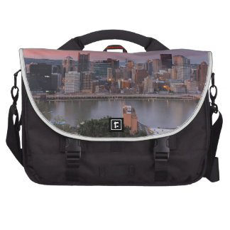 Pittsburgh Skyline at Sunset Bags For Laptop