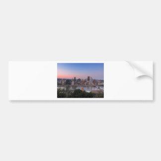 Pittsburgh Skyline at Sunset Bumper Sticker