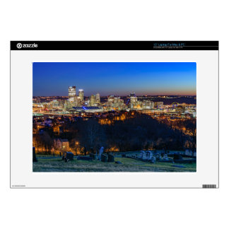 Pittsburgh Skyline at Sunset Decal For Laptop
