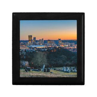 Pittsburgh Skyline at Sunset Jewelry Box